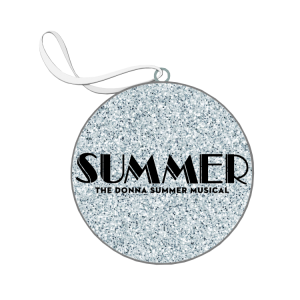 Summer Glitter Flat Ornament